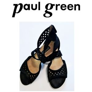 Cross Strap Laser Cutout Sandals | Paul Green